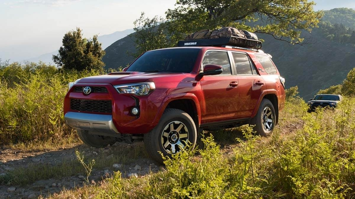 2017 Toyota 4Runner red exterior