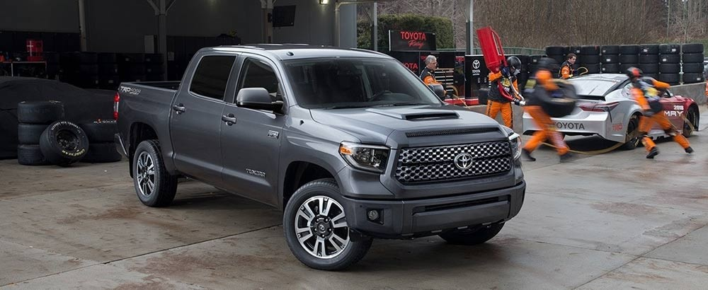 a first glimpse of the all new 2018 toyota tundra trd sport. Black Bedroom Furniture Sets. Home Design Ideas