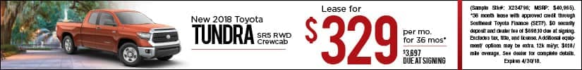 Lease 2018 Toyota Tundra $329