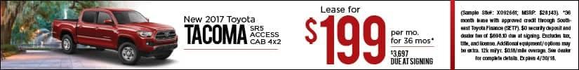 Lease 2018 Toyota Tacoma $199