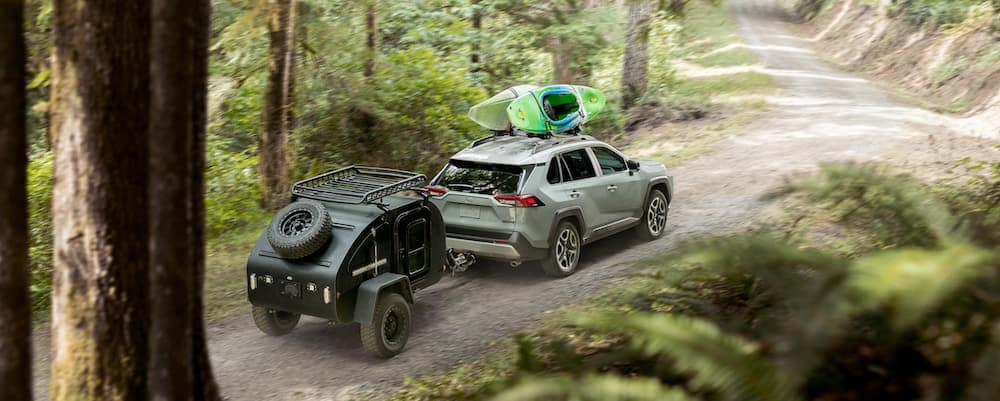 2019 Toyota RAV4 with AWD towing a trailer