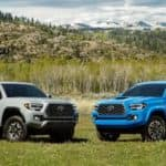 2020 Toyota Tacoma models parked next to each other