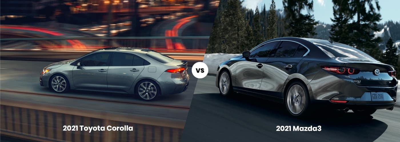 2021 Toyota Corolla vs 2021 Mazda3 Comparison