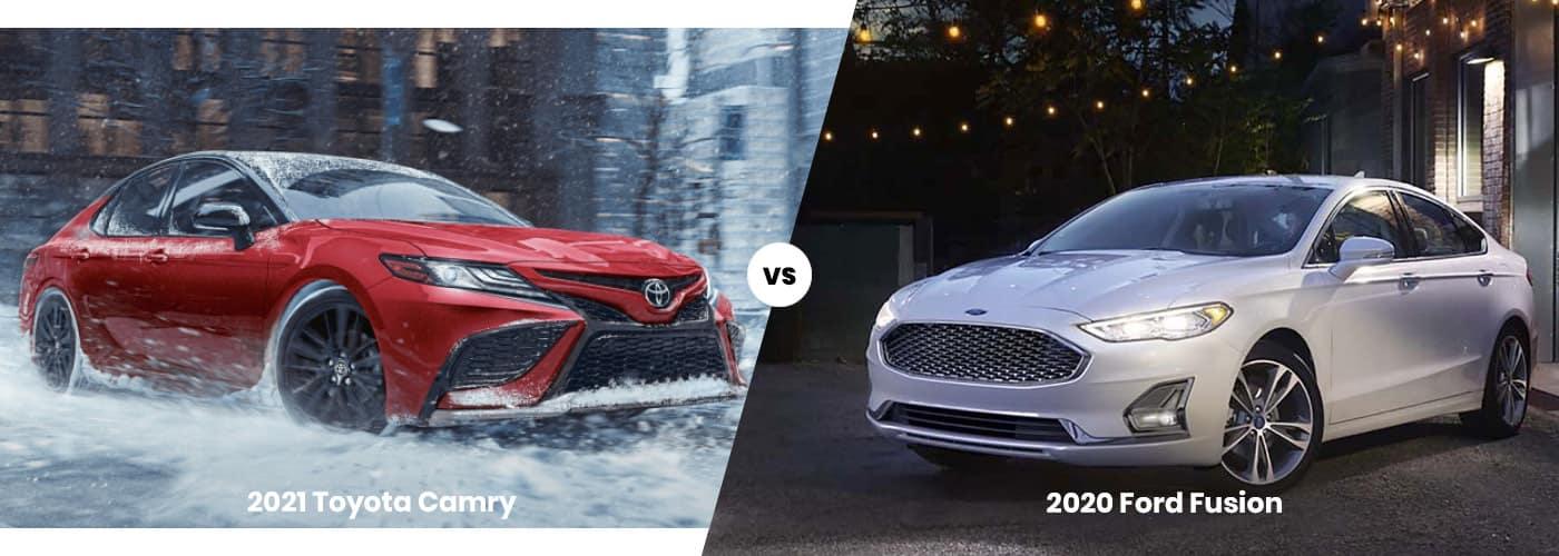2021 Toyota Camry vs 2020 Ford Fusion comparison