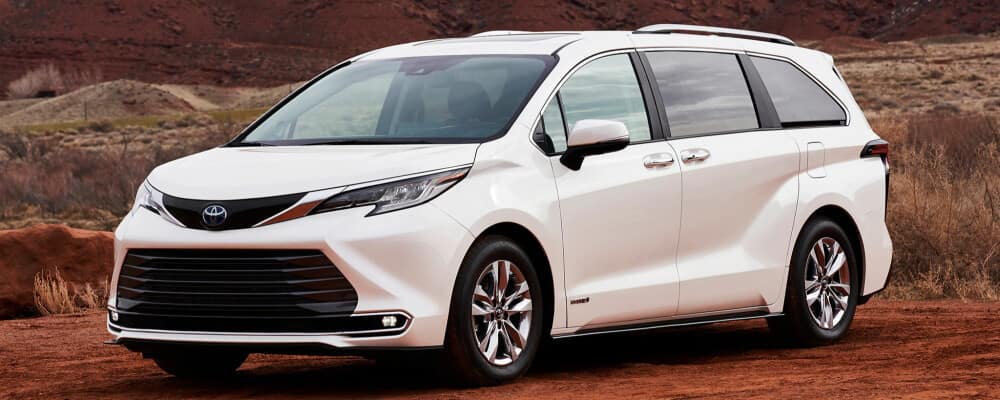 2021 Toyota Sienna parked on the side of the road