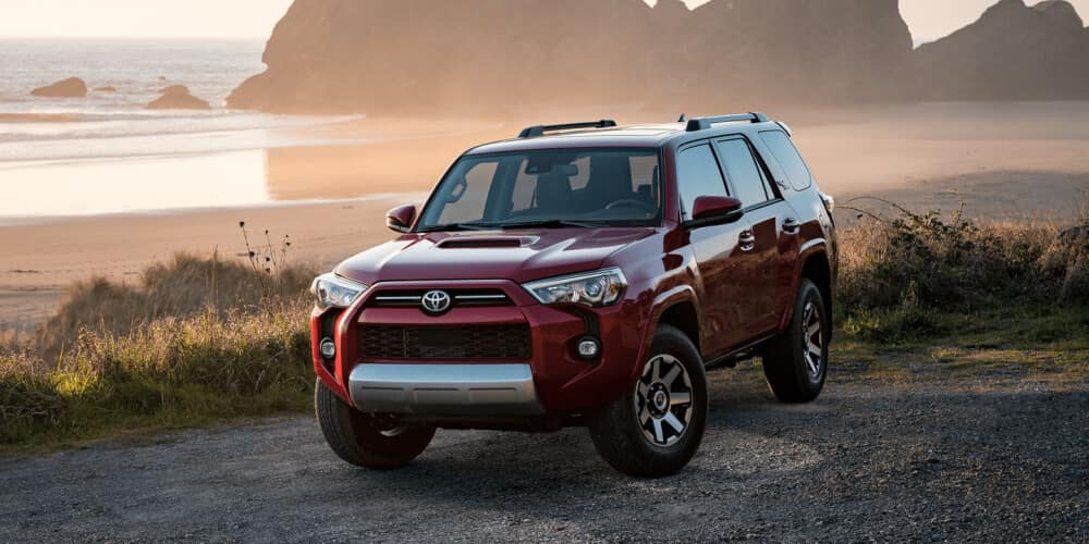 2021 Toyota 4Runner parked next to the beach