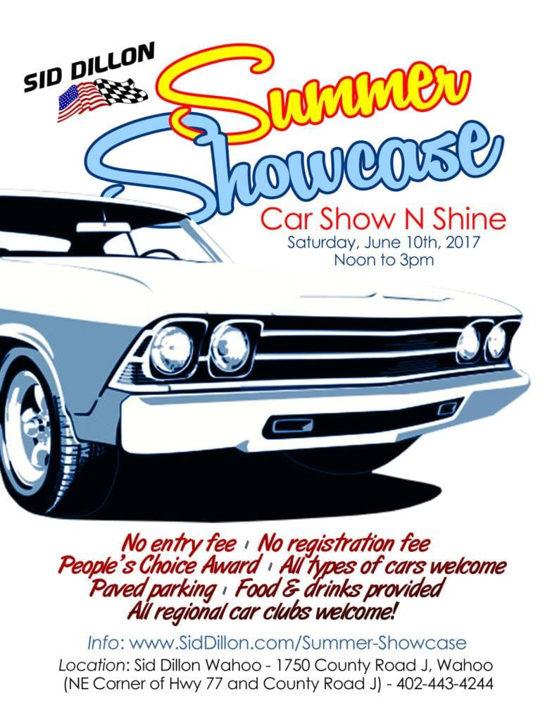 Sid Dillon Fremont Ne >> Summer Showcase Auto Show N Shine at Sid Dillon Wahoo | Sid Dillon Auto Group