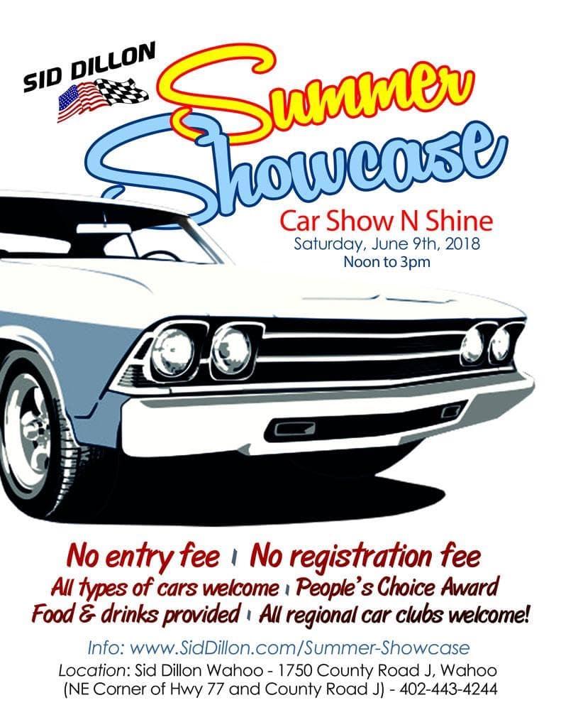 Summer Showcase Auto Show N Shine at Sid Dillon Wahoo | Sid