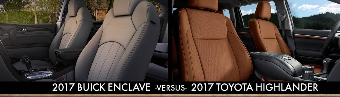 2017 Buick Enclave Vs. 2017 Toyota Highlander Interior