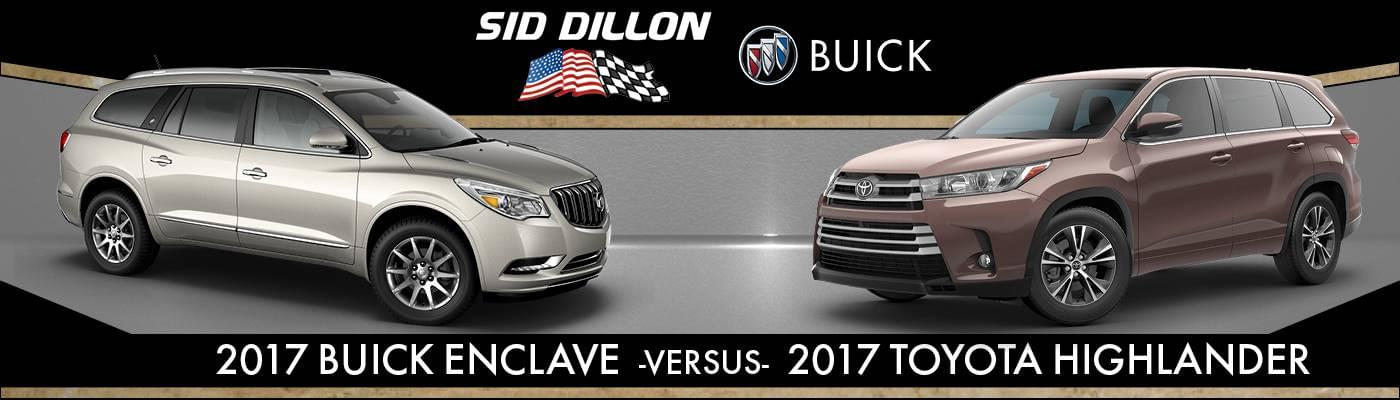 buick enclave vs 2017 toyota highlander comparison in lincoln ne. Cars Review. Best American Auto & Cars Review