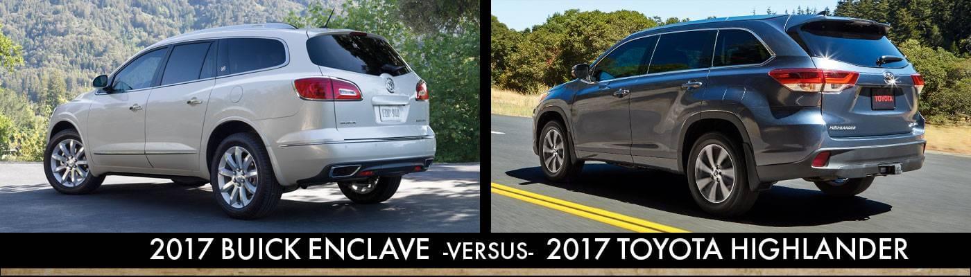 2017 Buick Enclave Vs. 2017 Toyota Highlander Rear