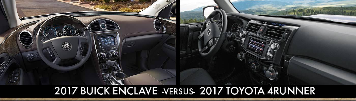 2017 Buick Enclave Vs 2017 Toyota 4Runner