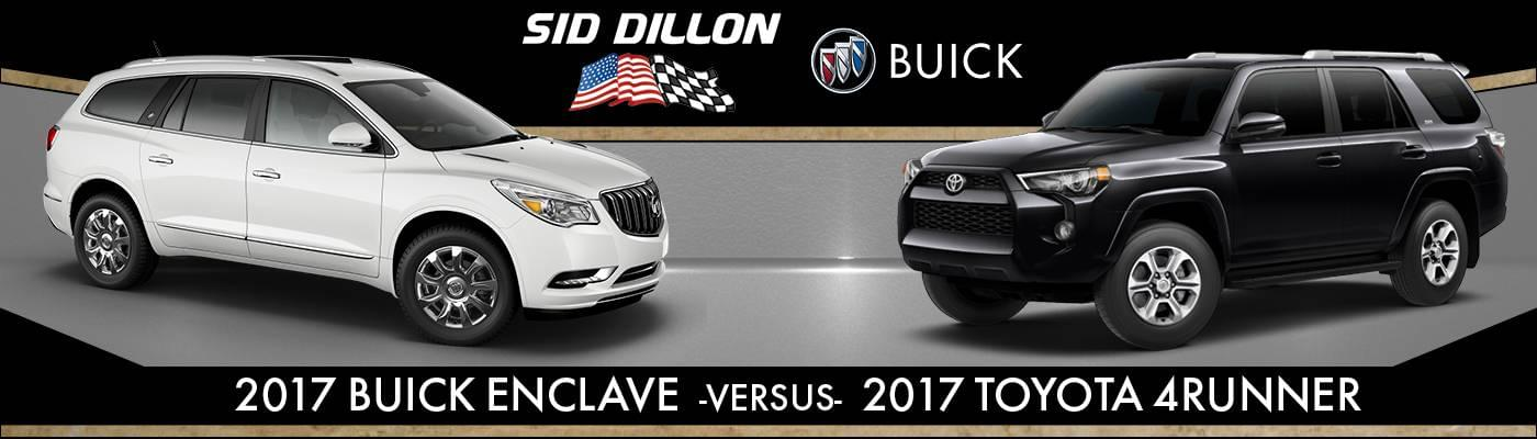 2017 Buick Enclave Vs 2017 Toyota 4Runner Interior