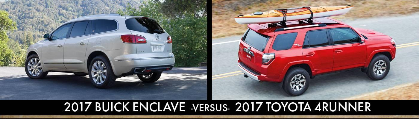 2017 Buick Enclave Vs 2017 Toyota 4Runner Rear View