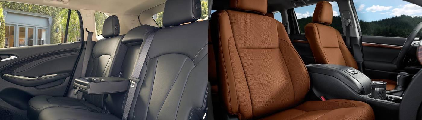 2017 Buick Envision Interior versus 2017 Highlander