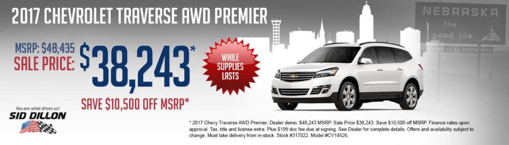2017 Chevy Traverse AWD Premier