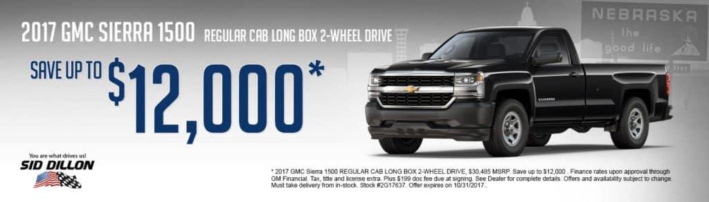 2017 GMC Sierra 1500 REGULAR CAB LONG BOX 2-WHEEL DRIVE
