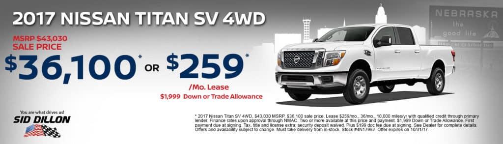 2017 Nissan Titan SV 4WD