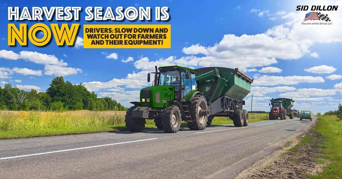 Share The Road Safely This Harvest Season Sid Dillon