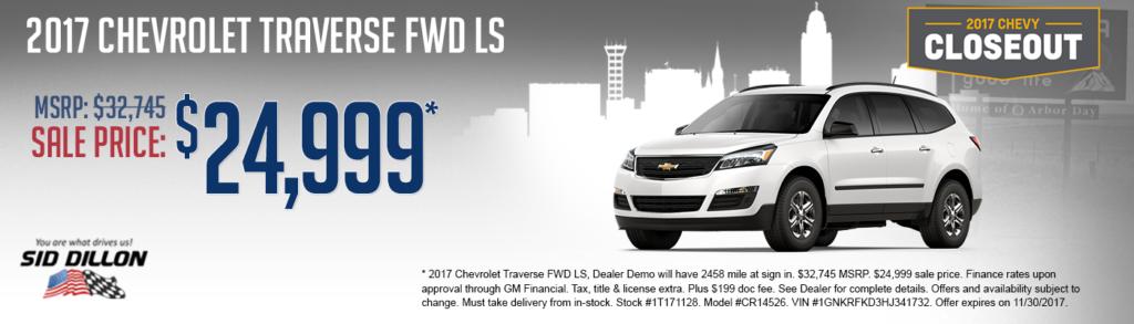 New 2017 Chevrolet Traverse LS FWD SUV