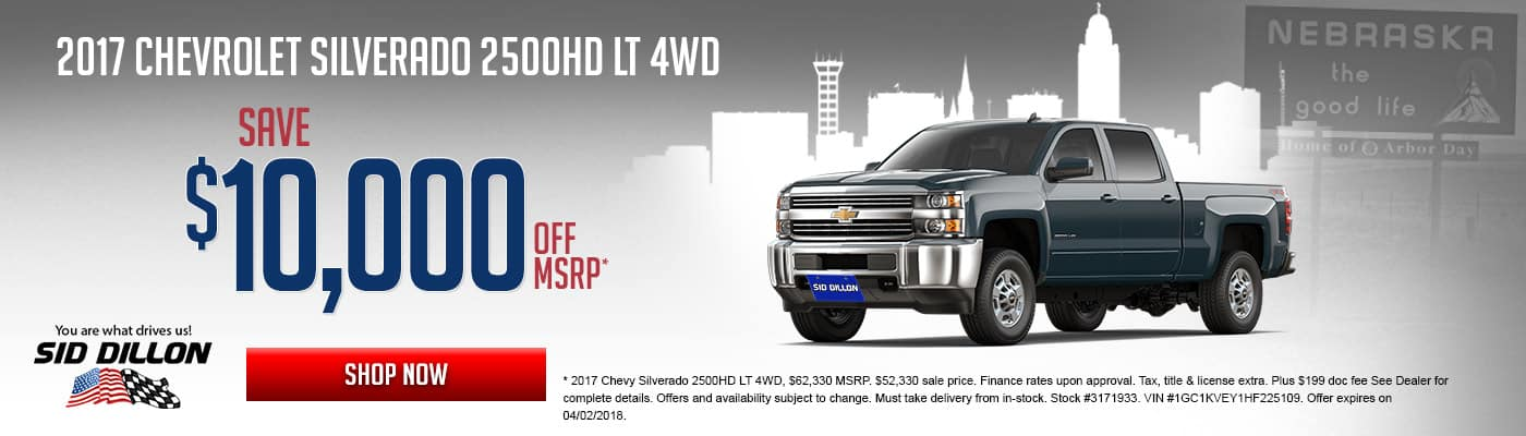 Sid Dillon Chevrolet Fremont NE New Used Cars - Nebraska chevrolet dealers
