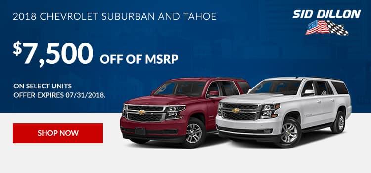2018 Chevrolet Suburban and Tahoe