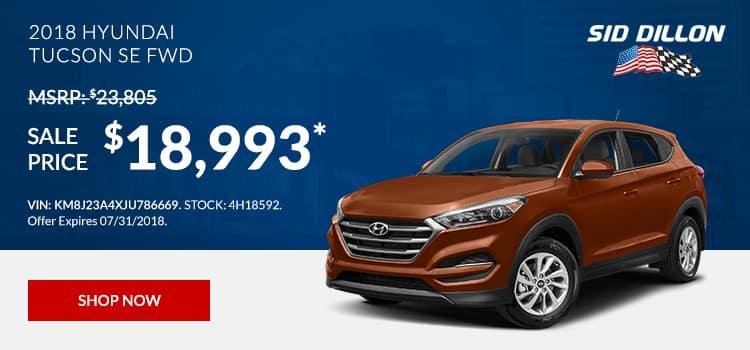 2018 Hyundai Tuscon SE FWD