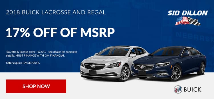 2018 Buick Regal and Lacrosse