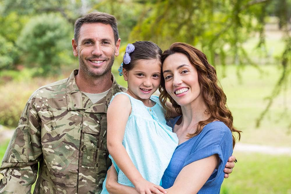 Soldier with his family