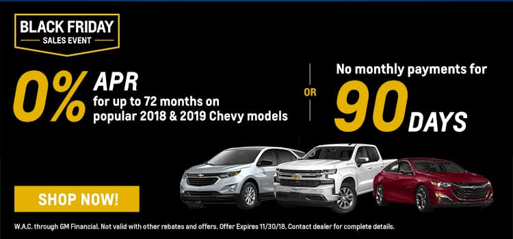 Chevrolet Black Friday Offers