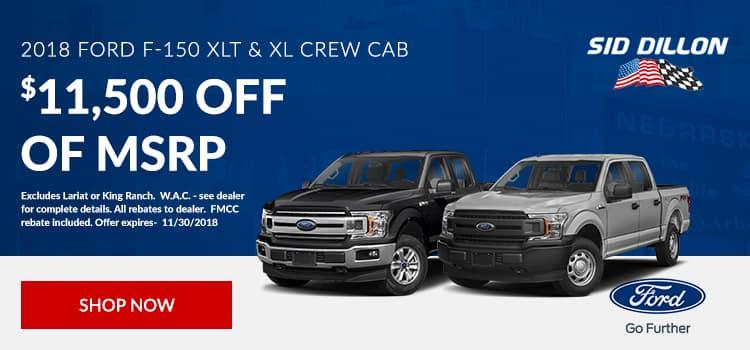 2018 Ford F-150 XLT & XL Crew Cab