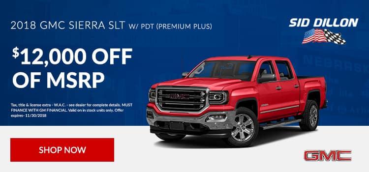 2018 Sierra SLT w/ PDT (Premium Plus)