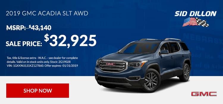 2019 GMC Acadia SLT AWD