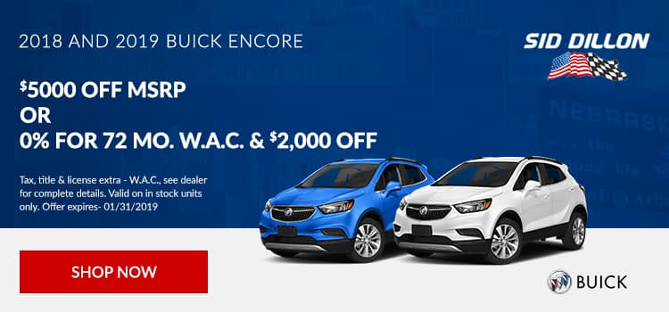 2018 and 2019 Buick Encore