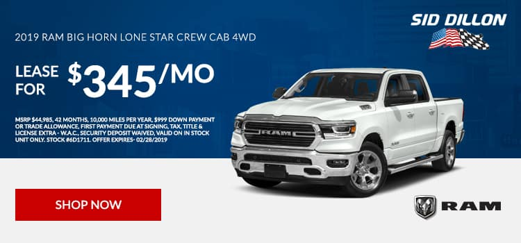 2019 RAM Big Horn Lone Star Crew Cab 4WD