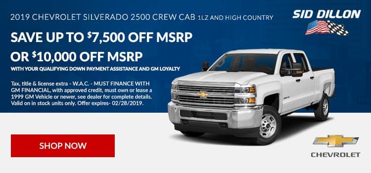 2019 Chevrolet Silverado 2500 Crew Cab 1LZ and High Country