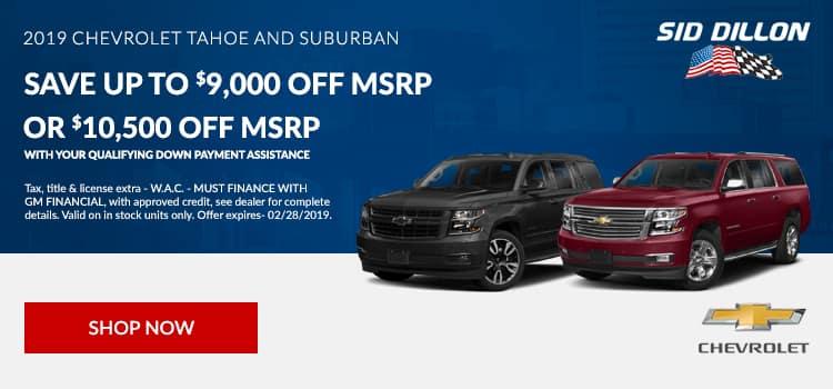 2019 Chevrolet Tahoe and Suburban