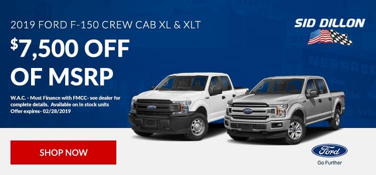 2019 Ford F-150 Crew Cab XL & XLT