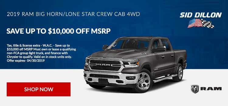 2019 RAM Big Horn/Lone Star Crew Cab 4WD