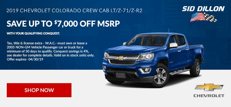 2019 Chevrolet Colorado Crew Cab LT/Z-71/Z-R2