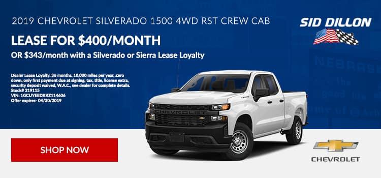 2019 Chevrolet Silverado 1500 4WD RST Crew Cab