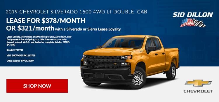 2019 Chevrolet Silverado 1500 4WD LT Double Cab