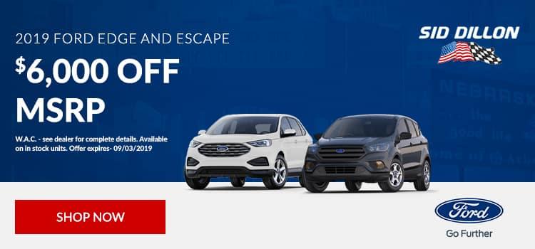 2019 Ford Edge and Escape