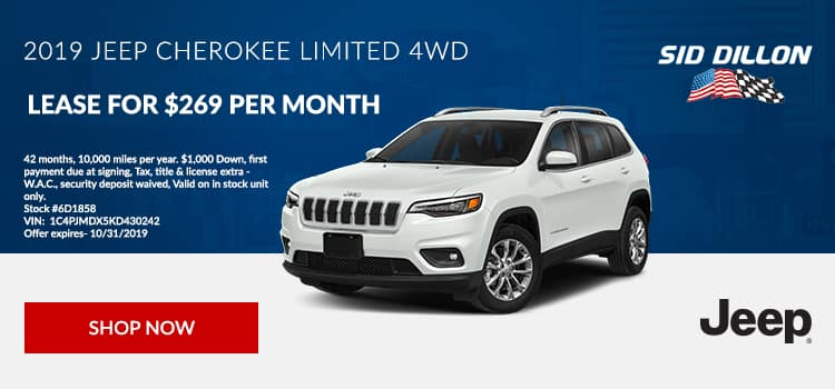2019 Jeep Cherokee Limited Lease