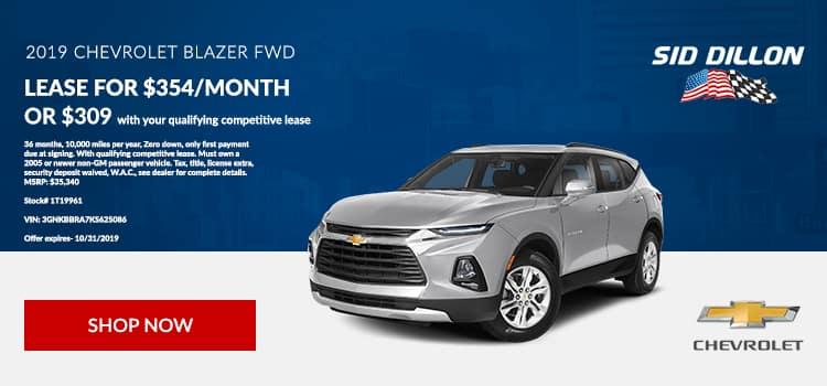 2019 Chevrolet Blazer Lease
