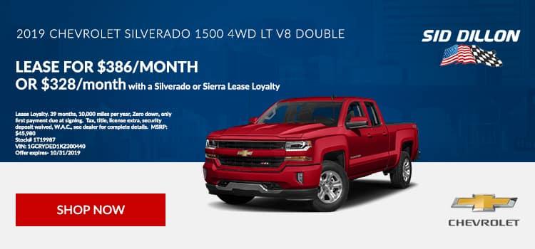2019 Chevrolet Silverado Double Cab Lease