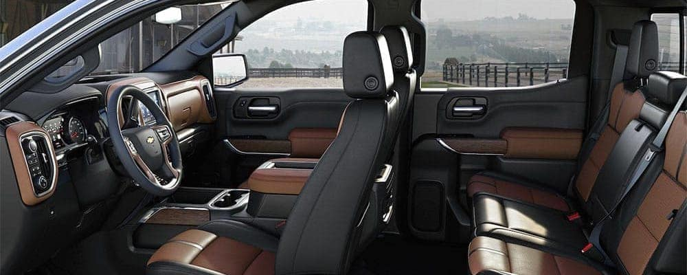 Cross section of inside of 2019 Chevrolet Silverado 1500