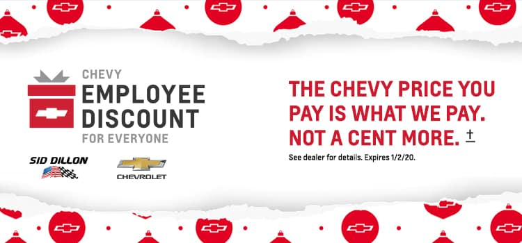 Chevrolet Employee Pricing Banner