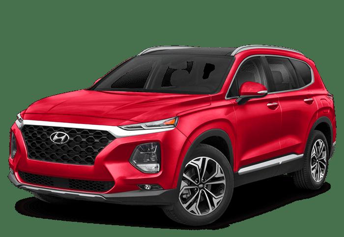 2020 Hyundai Santa Fe red