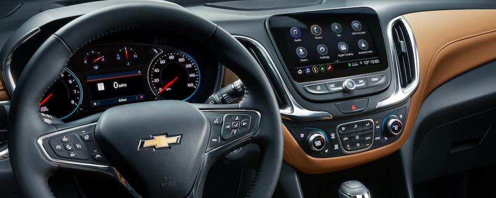 2020 Chevy Equinox interior dashboard with Chevy MyLink
